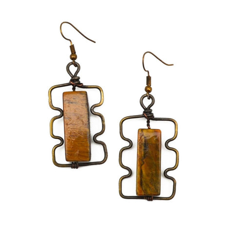 Tiger-Eye Aria Earrings