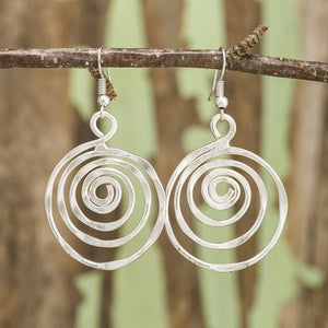 Silver Whirlpool Earrings (E367)
