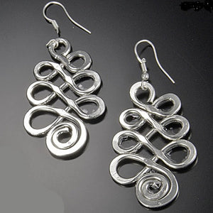 Silver Tree Pendant Earrings (E383)