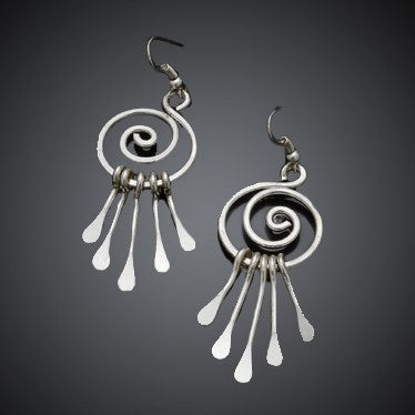 *Silver Swirl Dream Earrings (E400)