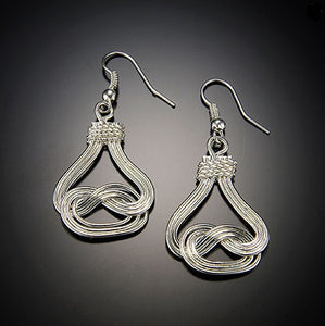 *Silver Braided Earrings (E470)
