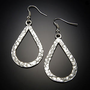 *Embossed Teardrop Earrings (E471)