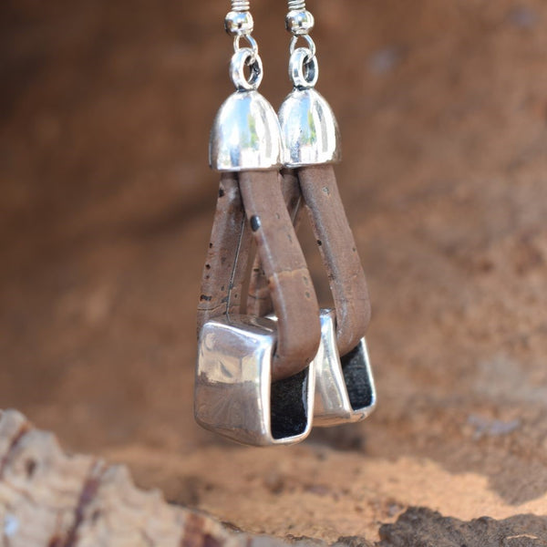 Rectangle Cork Earrings (E4)