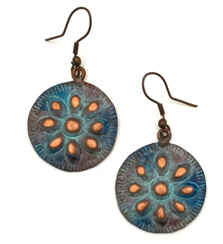 Copper Patina Earring 282  (EP282)