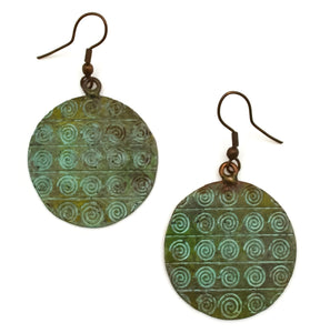 Copper Patina Earring 283  (EP283)