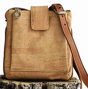 Expandable Cork Messenger Bag