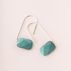 Floating Stone Earring - Turquoise/Silver (EF003)