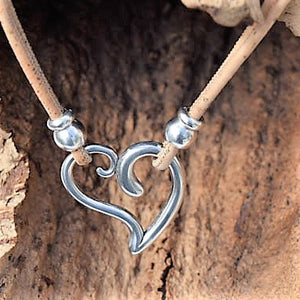 Silver Plated Zinc Heart Necklace