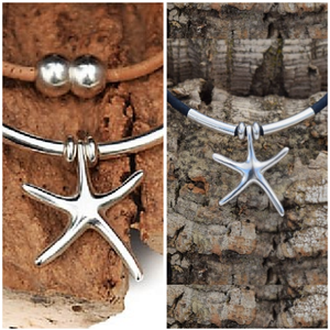 Sterling Silver Starfish Necklace (N27)
