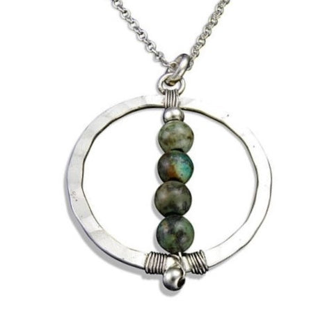 Jasper Globe Necklace (N3205)