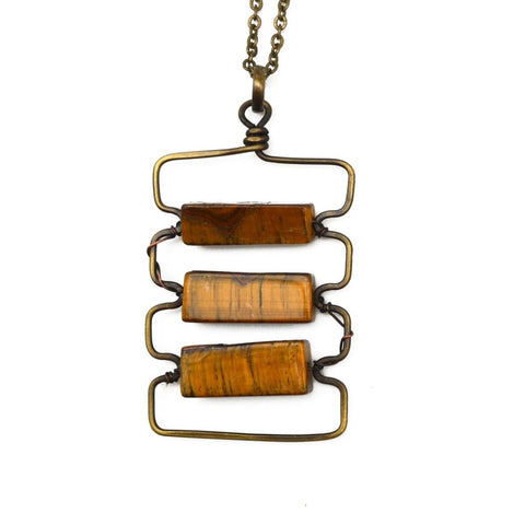 Tiger-Eye Aria Necklace (N3220)