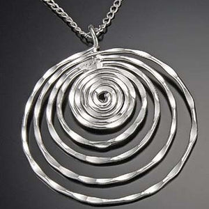 Silver Whirlpool Necklace (N367LS)