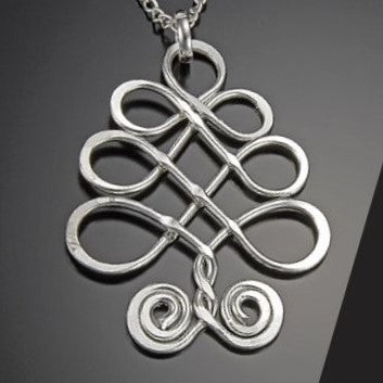 Silver Tree Pendant Necklace (N383LS)