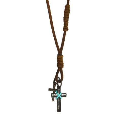 Double Cross Necklace (N8012)