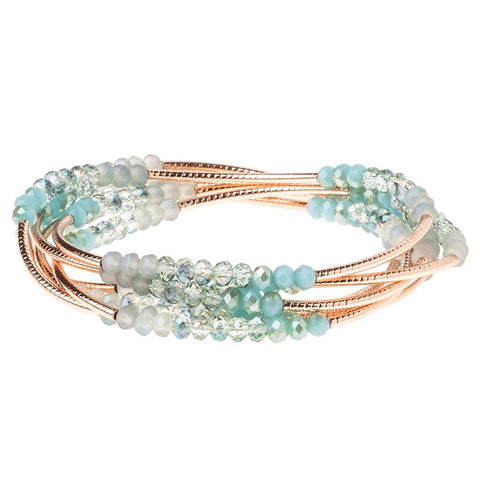 Neptune/Rose Gold Crystal Wrap (BR045)