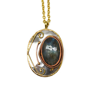 Labradorite Necklace (P2202)