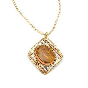 Tiger Eye Necklace (P2204)