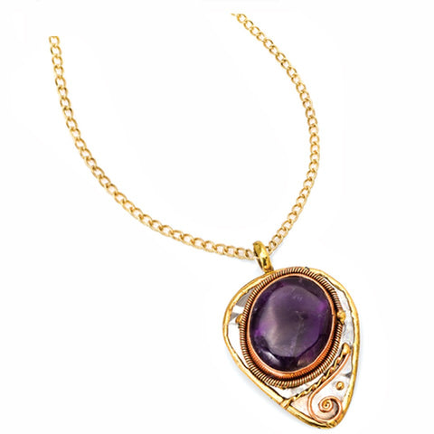Amethyst Necklace (P2207)