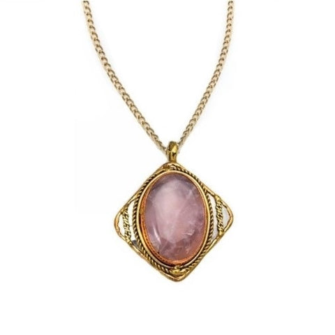 Rose Quartz Necklace (P2209)