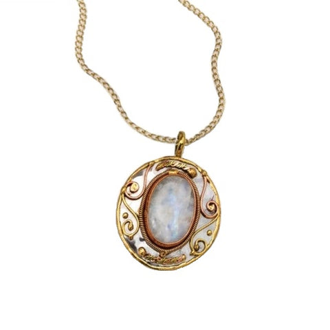 Rainbow Moonstone Necklace (P2212)