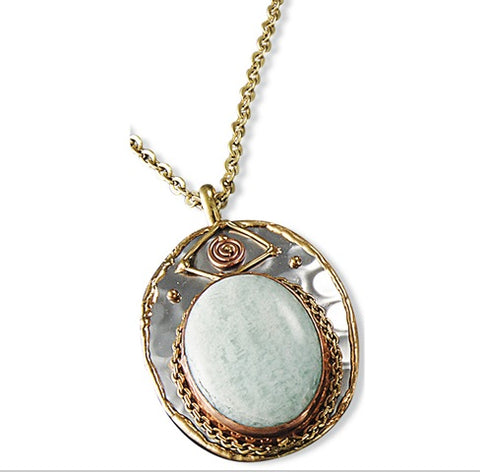 Amazonite Necklace (P2213)
