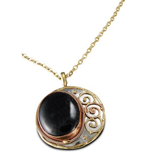 Black Onyx Necklace (P2214)