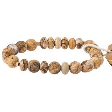 Picture Jasper Stone Bracelet - Stone of the Earth (SS009)