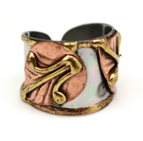 Mixed Metal Cuff Ring  (R001)