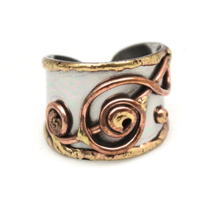 Mixed Metal Cuff Ring  (R002)