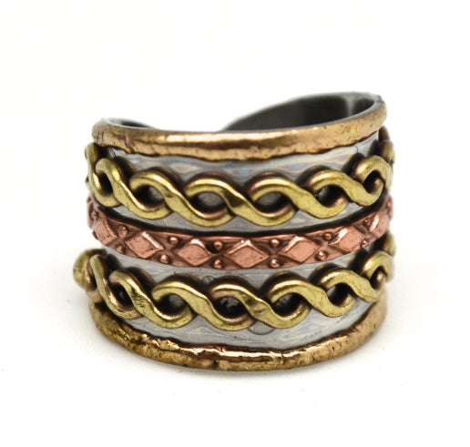Mixed Metal Cuff Ring  (R004)