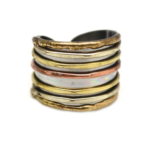 Mixed Metal Cuff Ring  (R005)