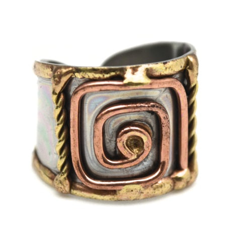 Mixed Metal Cuff Ring  (R006)