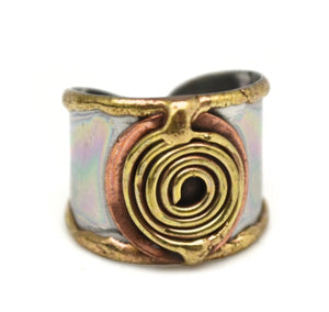 Mixed Metal Cuff Ring  (R007)
