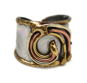 Mixed Metal Cuff Ring  (R009)