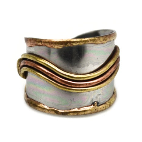 Mixed Metal Cuff Ring  (R010)