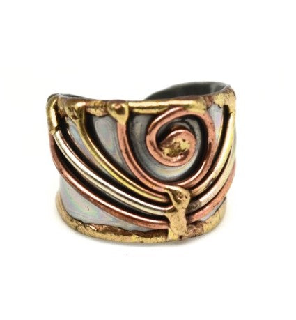 Mixed Metal Cuff Ring  (R011)