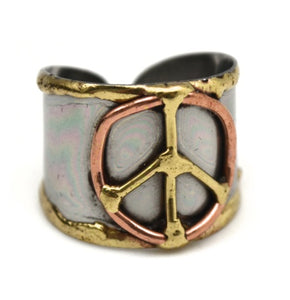 Mixed Metal Cuff Ring  (R012)