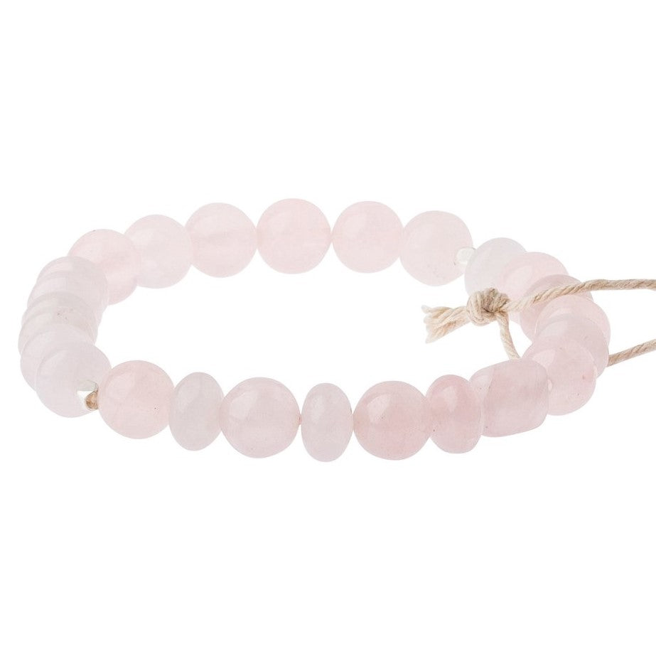 Rose Quartz Stone Bracelet - Stone of the Heart (SS008)