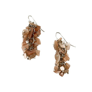 Pink Agate Spirit Stone Earrings (SSE1AG)