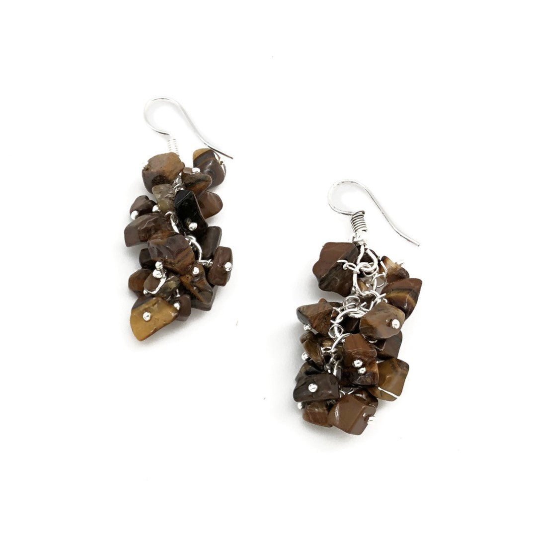 Tiger Eye Spirit Stone Earrings (SSE1TE)
