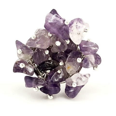 Amethyst Spirit Stone Ring (SSR1AM)