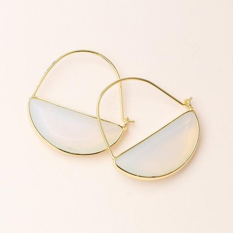 Stone Prism Hoop - Opalite/Gold (EP011)