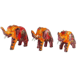 Wooden Elephant Figurines