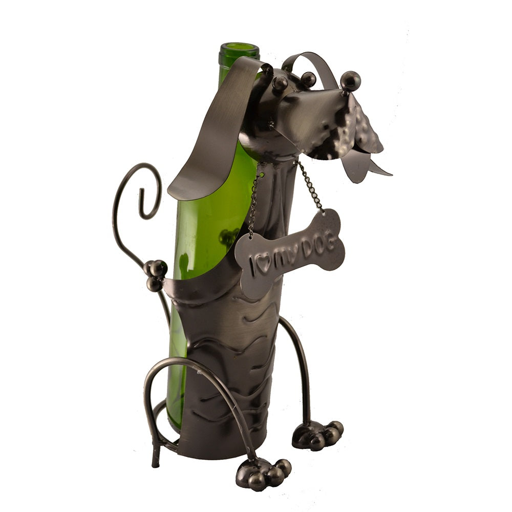 Dog with Bone Wine Holder (ZA400)