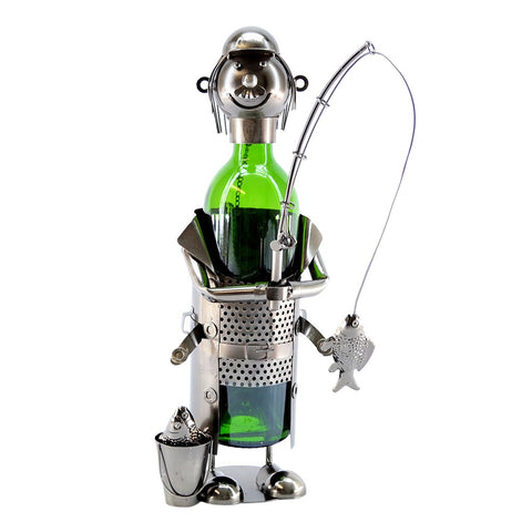 Fisherman with Pail Wine Holder (ZB230)