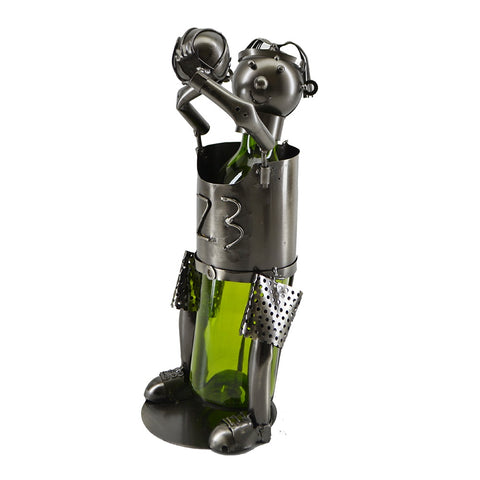 Basketball Player Wine Holder