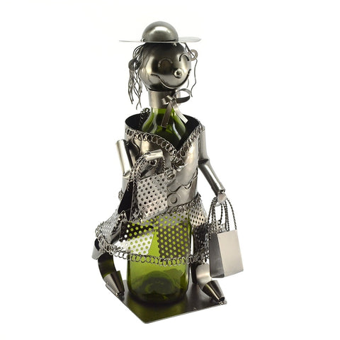 Shopping Lady Wine Holder (ZB970)