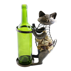 Cat Bottle and Cork Holder (ZL701)