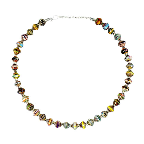 Amani Recycled Paper Necklace (AMN-1)