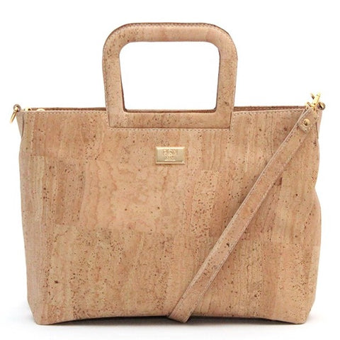 Anya Cork Leather Strap Shoulder Bag